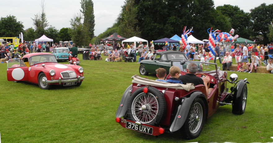 Classic cars at the fete